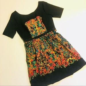 Plenty by Tracy Reese Orange & Black Printed Dress